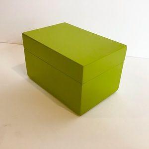 Jonathan Adler Apple Green Lacquered Groovy box
